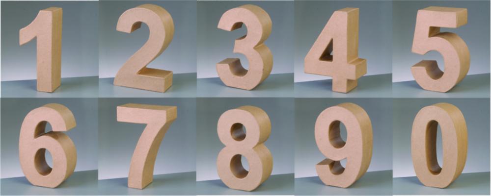 Deko-Zahlen