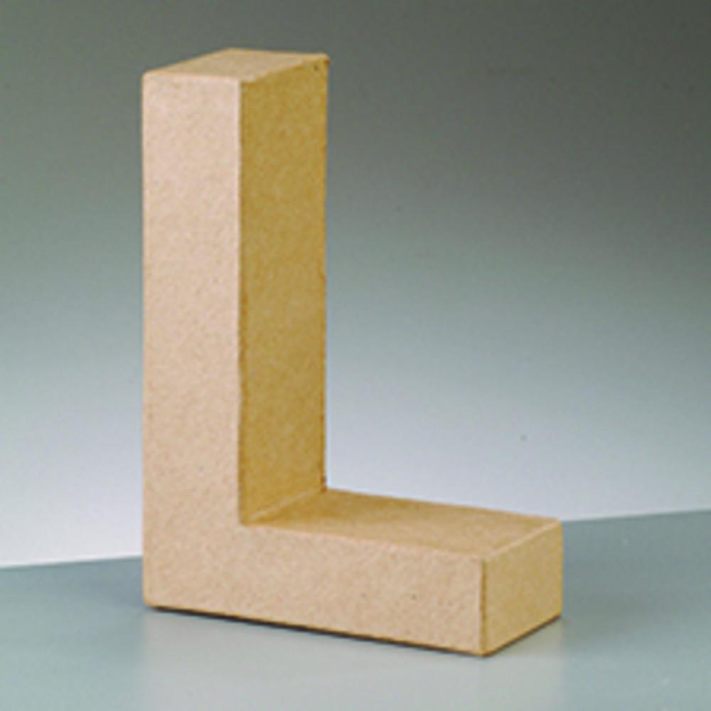 3d dekobuchstabe aus pappmache 10cm l hobbymade shop. Black Bedroom Furniture Sets. Home Design Ideas