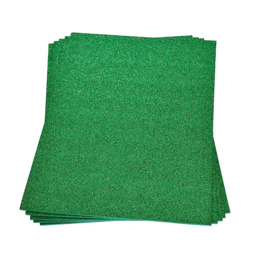 Moosgummiplatte glitter grün