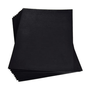 Moosgummiplatte schwarz