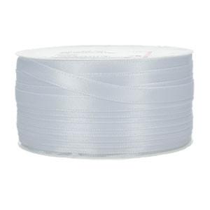 Doppelsatinband 6mm weiß