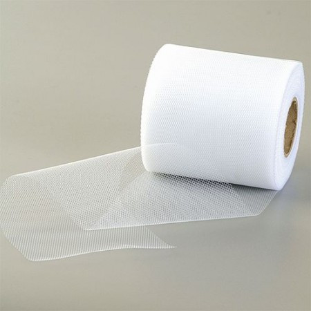 Tüllband weiß 10cm (Meterware)