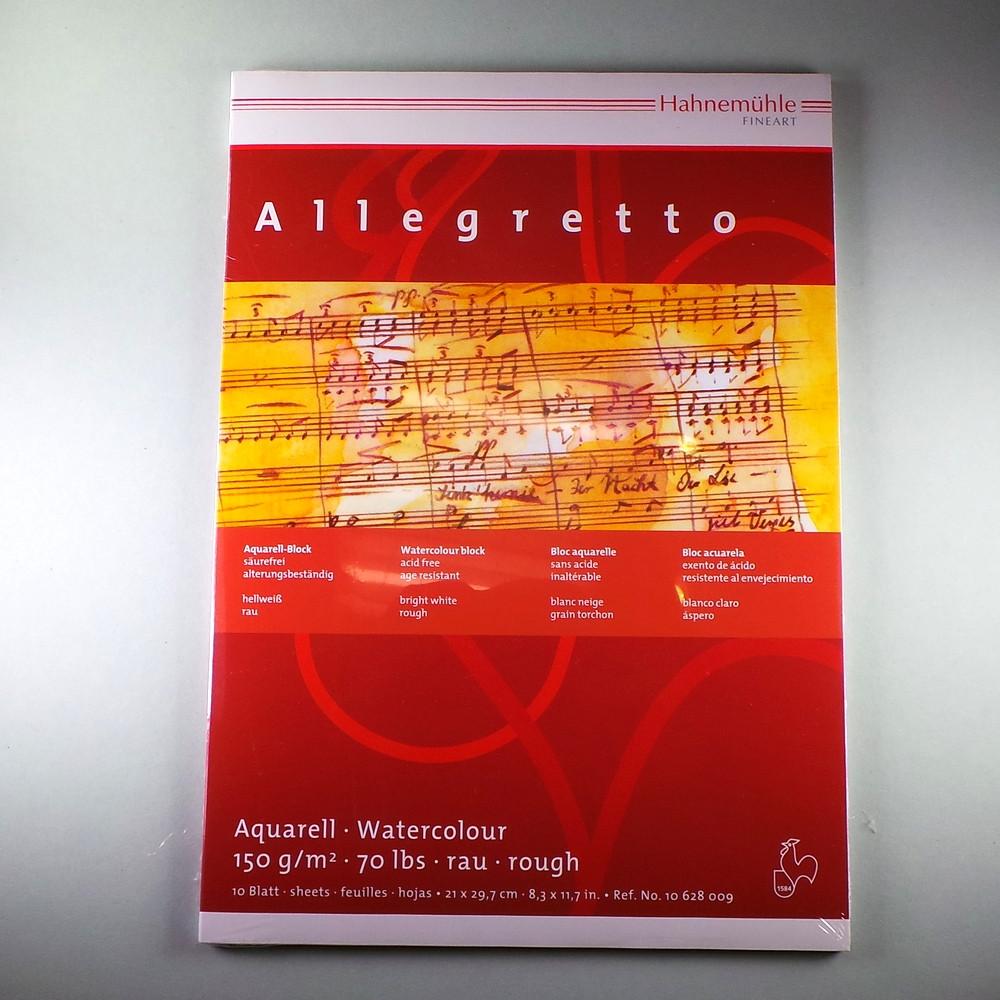 Aquarellpapier Block Allegretto A4 150 g/m² 10 Blatt