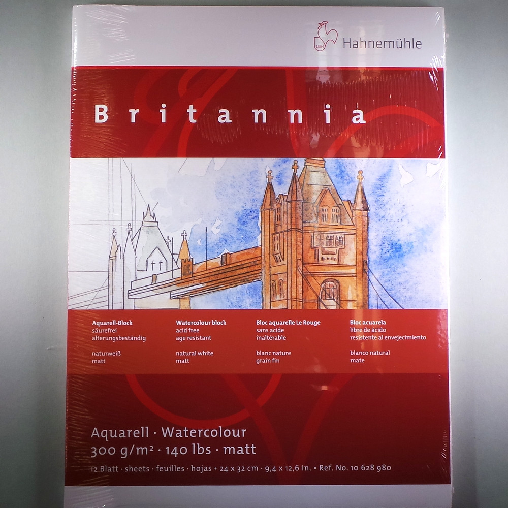 "Aquarellblock ""Britannia"" matt 300g/m², 24x32cm, 12Blatt"