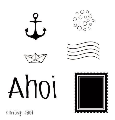 Clearstamp Stempel Dini Design Ahoi 2