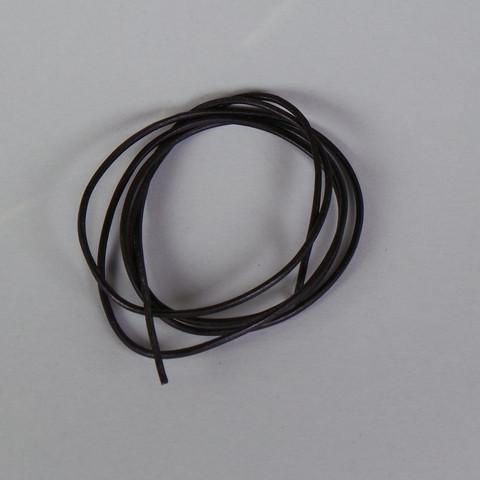 Lederriemen schwarz, ca. 2 mm stark, 100 cm lang