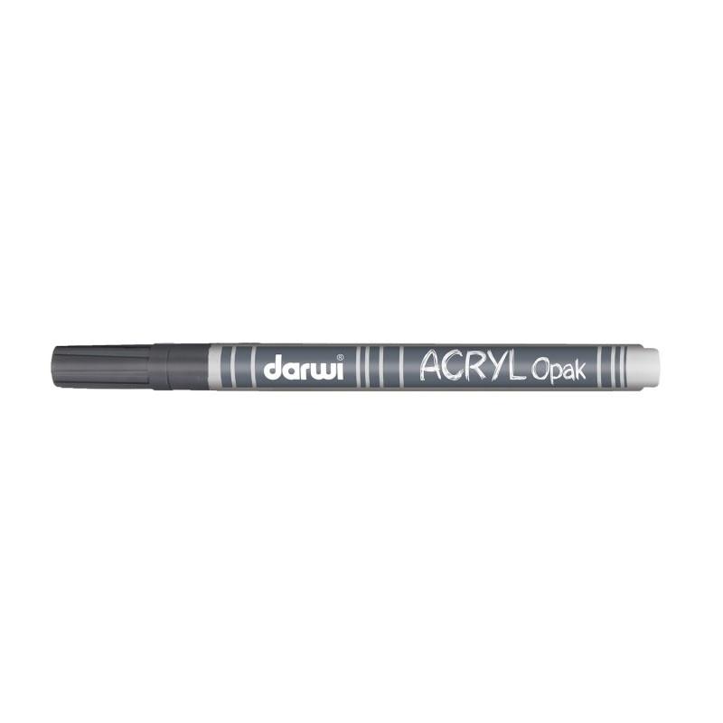 Acryl Marker Darwi dünne Spitze 0,8mm silber 3ml
