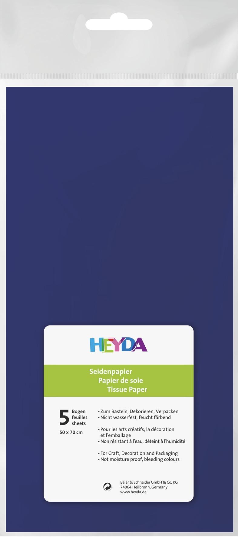 Seidenpapier dunkelblau 50x70cm 5 Bögen