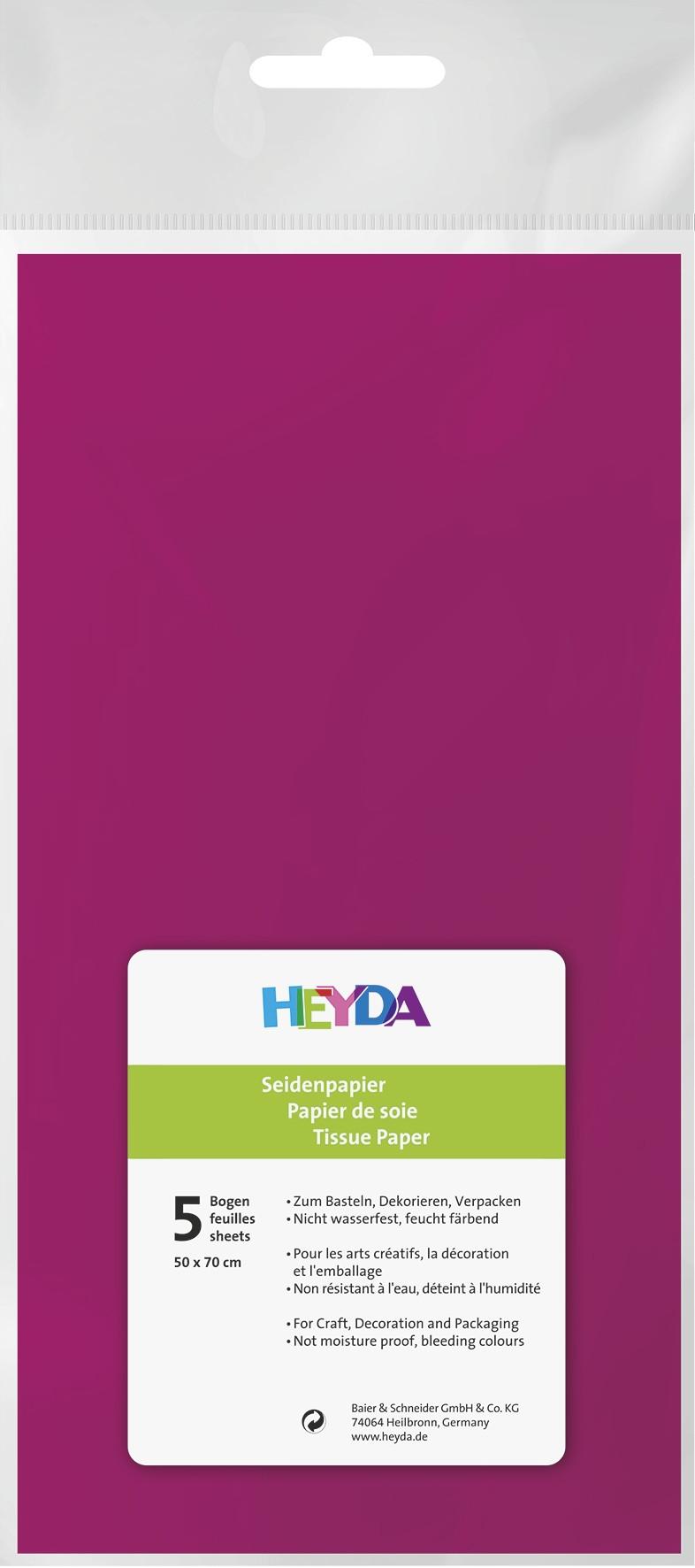 Seidenpapier pink 50x70cm 5 Bögen