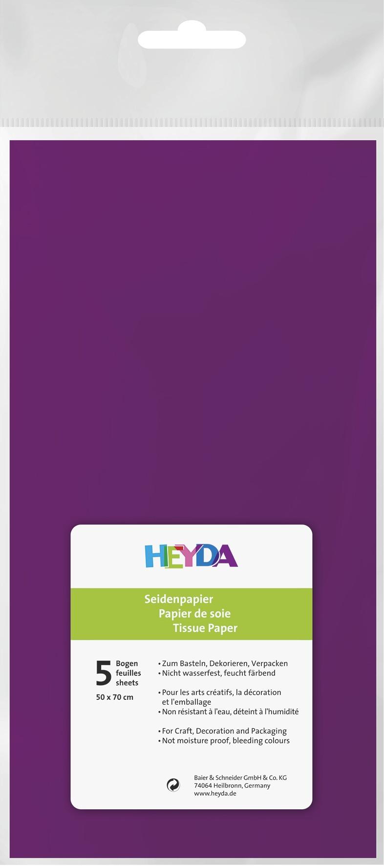 Seidenpapier violett 50x70cm 5 Bögen