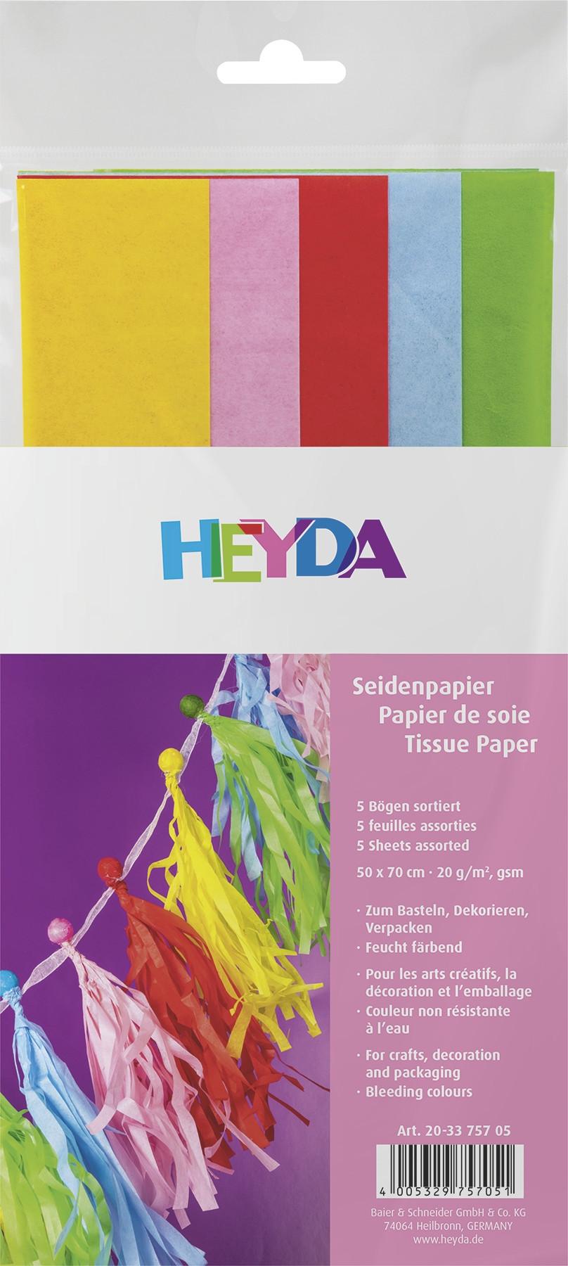 Seidenpapier Sortiment 50x70cm 5 Bögen