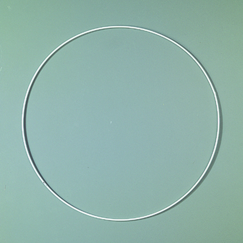 Drahtring 20cm weiß
