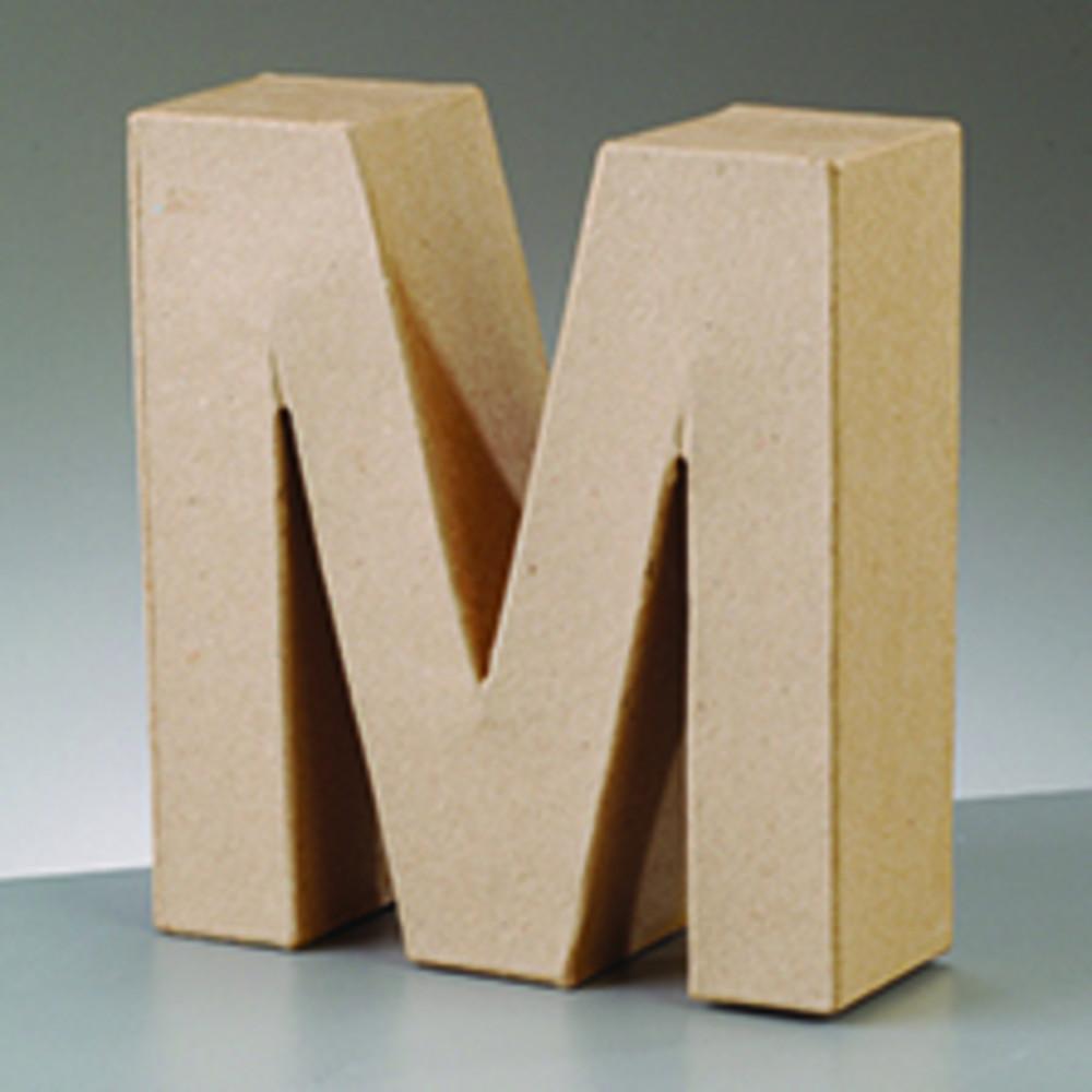 Deko Buchstabe M 10cm