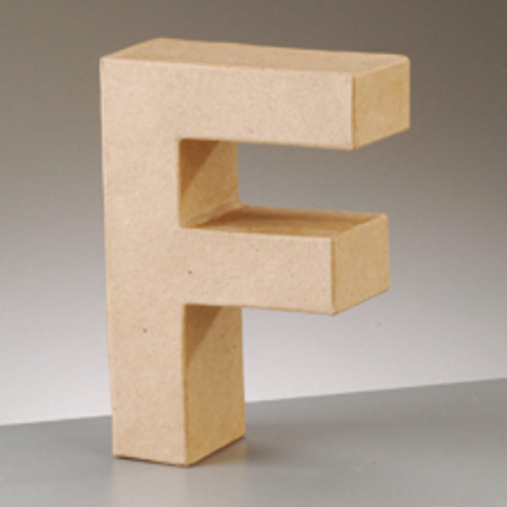 3D Dekobuchstabe aus Pappmache 17,5cm F