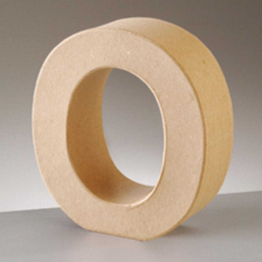 3D Dekobuchstabe aus Pappmache 17,5cm O