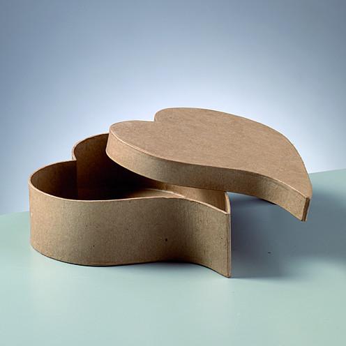 Papp-Box Herz geschwungen 18cm