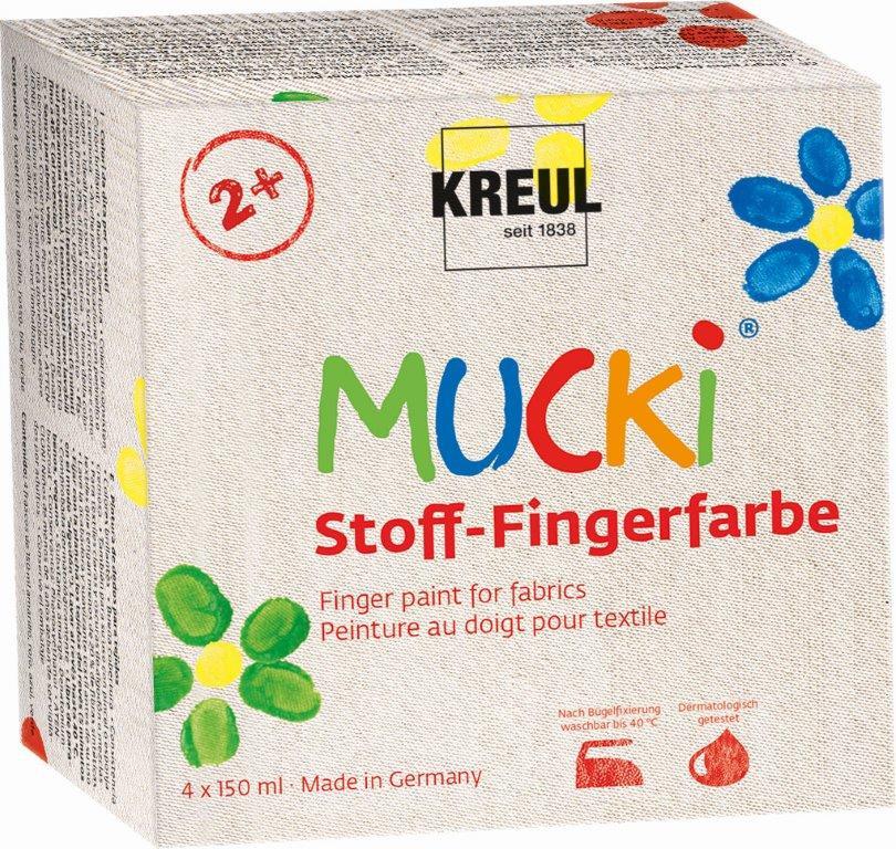 MUCKI Stoff-Fingerfarbe 4er Set