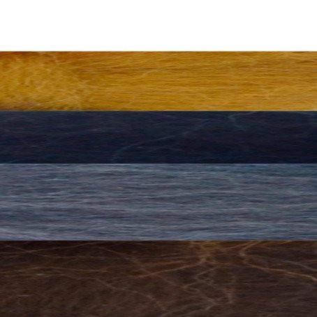 Filzwolle Kammzug 50g Schwarz-Brauntöne