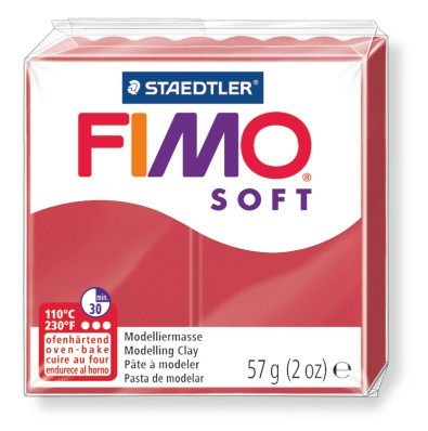 Modeliermasse FIMO® Soft kirschrot 57g