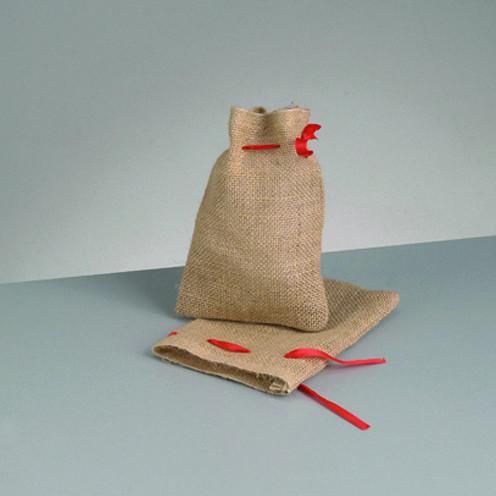 Jutesack mit Zugkordel 14 x 18 cm