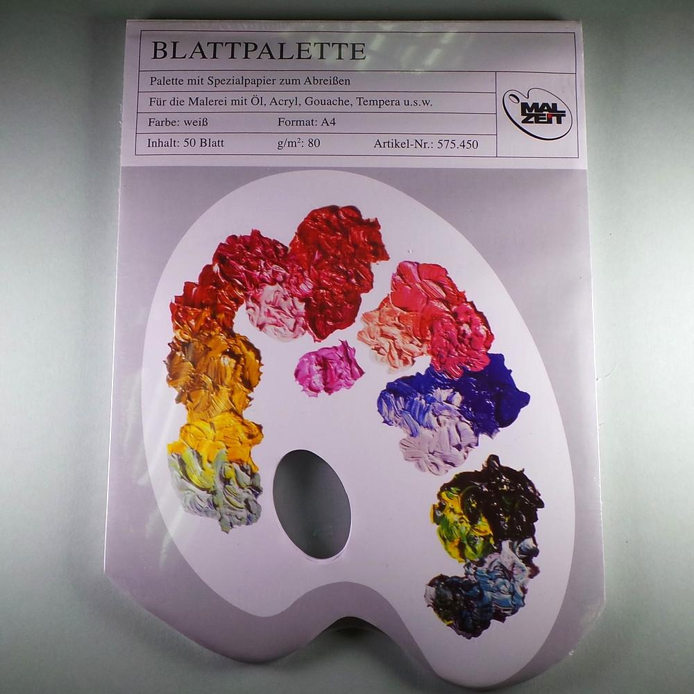 Blattpalette A4, 50 Blatt 80g/m²