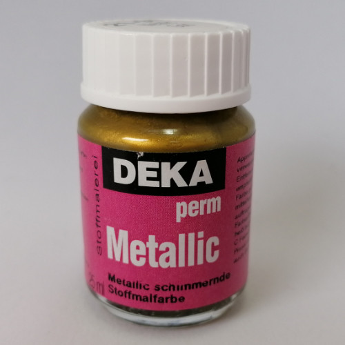 Stoffmalfarbe Deka PermMetallic Gold 25ml 21294
