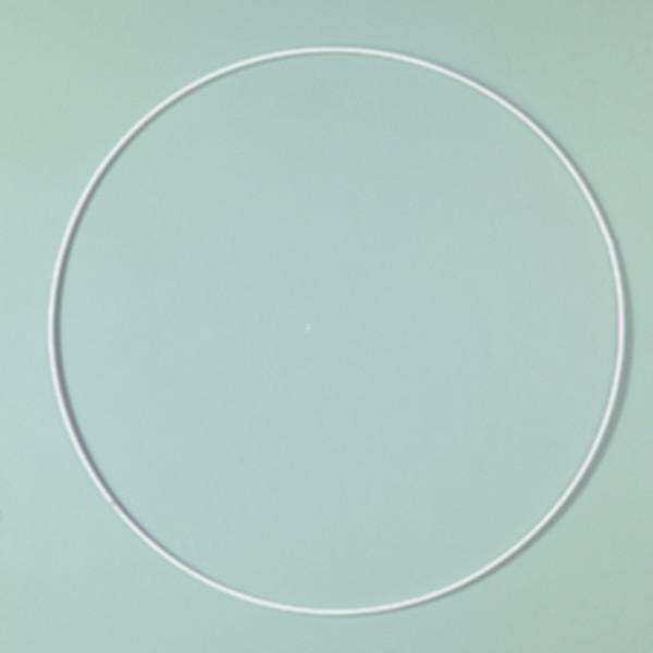 Drahtring 35cm weiß
