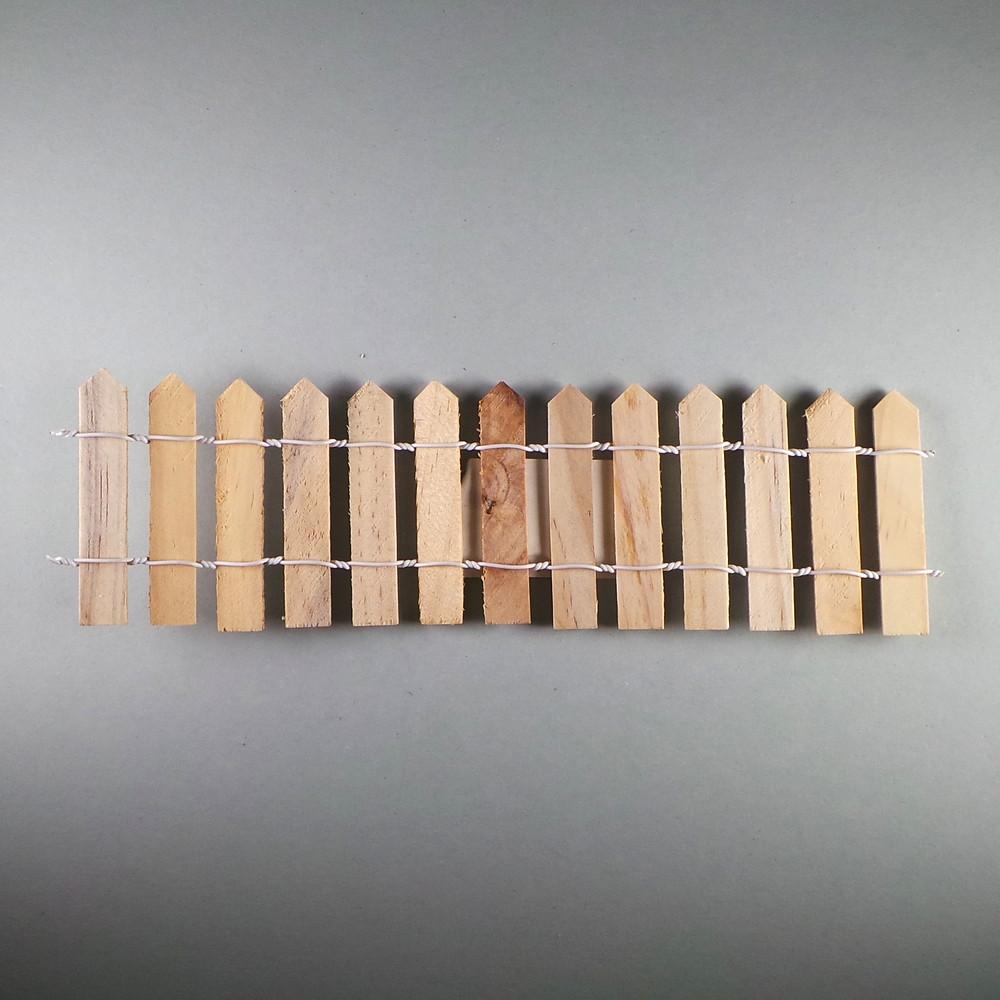 Mini-Holzzaun, roh