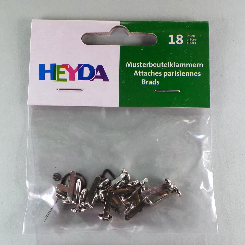 Musterbeutelklammern basteln  Musterbeutelklammern silber 15mm 18 Stück | HOBBYmade Shop