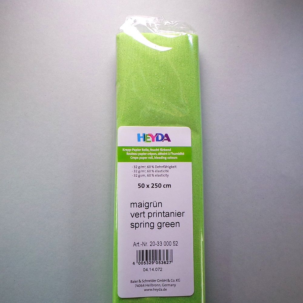 Krepp-Papier maigrün Rolle 50 x 250 cm