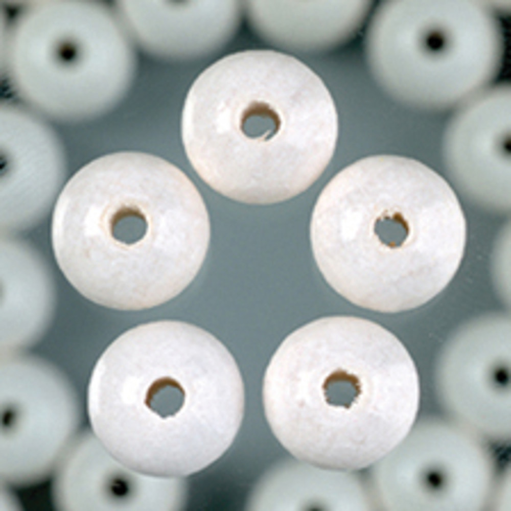 Holzperlen weiß 8mm