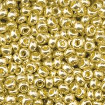 Indianerperlen mettalic gold