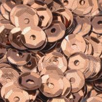 Pailletten rund 6mm gewölbt braun