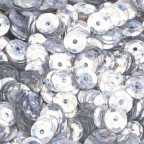 Pailletten silber hologramm 6mm gewölbt 4000 Stück