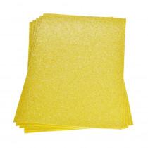 Moosgummiplatte glitter gelb