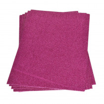 Moosgummiplatte glitter pink