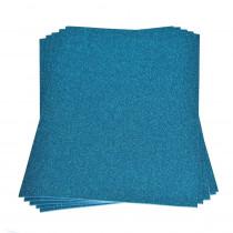 Moosgummiplatte glitter hellblau