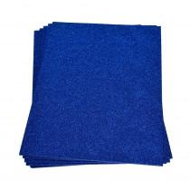 Moosgummiplatte glitter blau