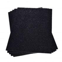 Moosgummiplatte glitter schwarz