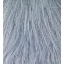 Langhaarplüsch grau