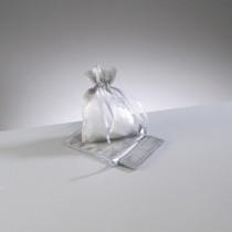 Organzasäckchen silbergrau klein