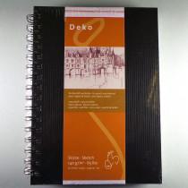 "Skizzenbuch ""Deko"" schwarz DIN A5 hoch, 62Blatt"