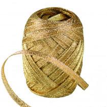 Lurex-Kräuselband gold