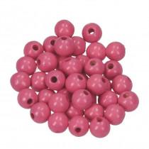 Holzperlen rosa 8mm 80 Stück speichelfest
