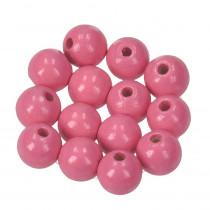 Holzperlen rosa 10mm 53 stück speichelfest