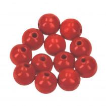 Holzperlen rot 12mm 30Stück speichelfest
