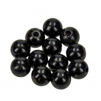 Holzperlen 12mm 30 Stück schwarz