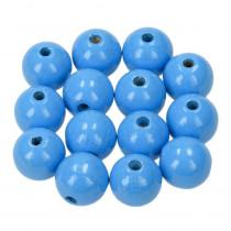 Holzperlen hellblau 10mm 53 stück speichelfest