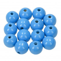 Holzperlen hellblau 6mm 110 Stück speichelfest