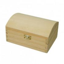 Holztruhe Kiefer, mit Verschluss 15,5 x 11 x 8cm roh